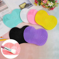 Make up Washing Brush Cleaner Pad Mat Gel Scrubber Board Cosmetic Cleaning  3C