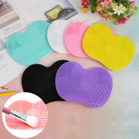 Make up Washing Brush Cleaner Pad Mat Gel Scrubber Board Cosmetic Cleaning To JG