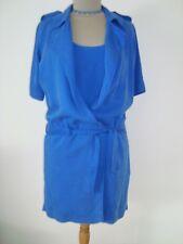 Robe Veste Cop-Copine Ceinturée 100% Lyocell Bleu Roi Taille 36