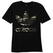 Adidas Originals Stacked Camo Black T-shirt Men's Sz L Large Graphic Tee