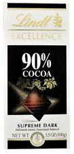 4 X 100 G | LINDT Excellence 90% de cacao Chocolat noir | 4 X 100 G | Free p&p