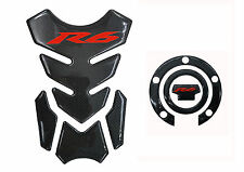 "8.6"" Real Carbon Fiber Fuel Gas Tank Cap Cover Protector Pad For R6 YZF R600"