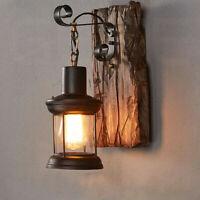 Wall Sconce Light Retro Antique Vintage Rustic Lantern Lamp Fixture Outdoor