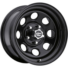 4 - 15x7 Black Wheel Vision Soft 8 5x5.5 -6