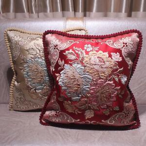 CURCYA Luxury Cushion Covers European Jacquard Sofa Home Decorative Pillow Case