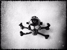 TESTA di scheletro Spilla, Teschio, Goth, ossa, Biker, unisex, idea regalo, Orrore, metallo, Spaventoso