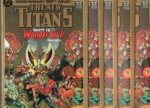 New Titans #50 5 COPIES NM+ 9.6 SIGNED WOLFMAN! NEW ORIGIN WONDER GIRL 1988 TEEN