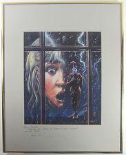 "ALAN M CLARK SIGNED Print Ltd ""A Clown In The Window"" HORROR CEMETARY DANCE 1996"