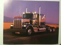 Kenworth Semi Truck Poster 1985 Vintage Impact Print #8259 Brad Wagnor 16x20 Art