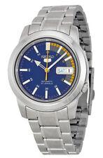 Seiko Automatic SNKK27 SNKK27K1 Men Day Date Blue Dial Stainless Steel Watch