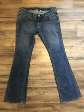 Bebe Jeans Size 30 Flare Leg Low Rise Medium  Blue Denim Excellent Condition