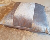 22 x 22 inch  Silver ice crushed velvet metallic bling cushion cover.