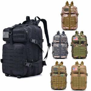 40L Military Tactical Backpack Outdoor Sport Rucksack Hiking Shoulders Unisex