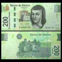 Mexico 200 Pesos, 2014, P-125 NEW , Serie AW, banknotes, UNC