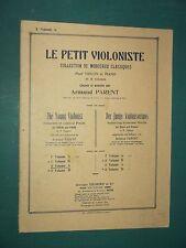 """Partition Violon & Violon acc. piano """"le petit violoniste"""" A. PARENT  Vol. 2 A"""