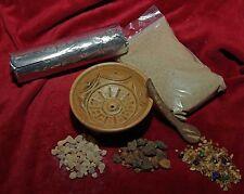 Weihrauch-Set mit Tonschale sandfarben