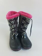 Ozark Trail WINTER BOOTS Black/Pink 6 womens, insulated, rubber base girls
