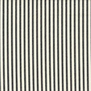 Carolina Linens Shower Curtain in Farmhouse Black Ticking Stripe