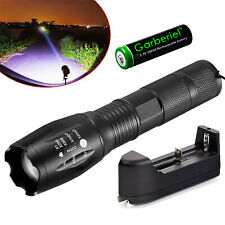 Tactical Police LED Flashlight 18650 Zoomable T6 Rechargeable Super Bright Torch