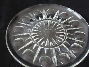 "Princess House Regency Dinner Plate Pressed Cut Clear Glass 10"" Vintage New"