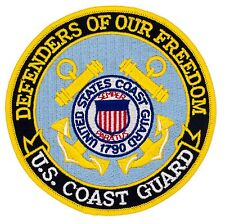 "US Coast Guard Defenders of Freedom Patch (610) 5"" Round Embroidered Patch 28910"
