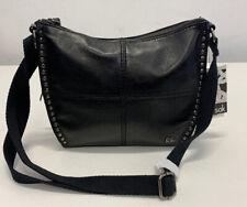 The SAK Saratoga Leather Crossbody Handbag Black Onyx