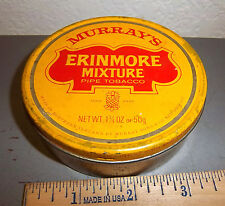 vintage Murrays Erinmore Mixture pipe tobacco tin, great graphics & colors