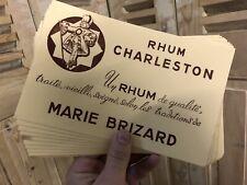 Lot de 10 Buvard Rhum Charleston Marie Brizard Publicité Alcool Ancien