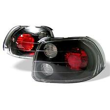 Pair Atezza Euro Tail Lights Lamps Honda Civic Del Sol 93-97 Black 1 Yr Warrant