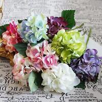Artificial Flowers Bundle Silk Hydrangea DIY Home Wedding Christmas Decoration