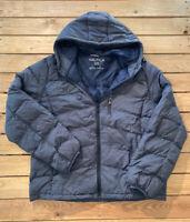 Nautica Men's long sleeve zip Up hooded download filled coat size XL blue