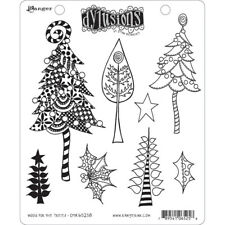 Ranger Ink - Dylusions Stamps - Christmas - Wood for the trees