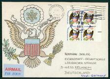 USA UMSCHLAG HANDGEMALT !! 1977 FLAG AMERICAN EAGLE UNIKAT !! UNIQUE !! el57