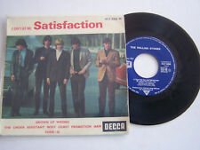 EP 4 TITRES VINYLE 45 T , THE ROLLING STONES , SATISFACTION . VG  / VG -
