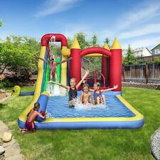 ALEKO Inflatable Bounce House with Slide, Splash Pool, and Ball Pit