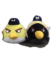 "MLB Milwaukee BREWERS 5.5"" ANGRY BIRDS BLACK & YELLOW PLUSH STUFFED ANIMAL TOY"