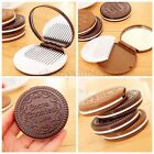 Portable Comb Hair Brush With Mirror Travel Pocket Size Folding Makeup Cookie