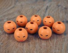 Wooden Angel Doll Head Beads, 18 mm Faces -Hole 4 mm WH2 x 20