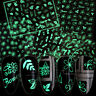 3D Nagel Aufkleber Leaf Pattern Luminous Flower Pattern 3D Nail Art Dekoration
