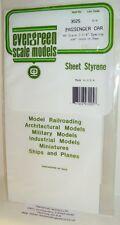 "Evergreen Sheet Styrene 3025 - Passenger Car  H0 Scale - 2-1/4"" Spacing."