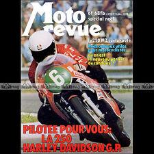 MOTO REVUE N°2197-b ★ Poster AGOSTINI ★ MZ 250 YAMAHA DT 175 HARLEY 250 GP 1974