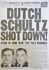 1935 DUTCH SCHULTZ SHOT DOWN GANG WAR LUCIANO NJ OCTOBER 24 RECORD CRAWFORD AD