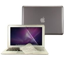 """3 in 1 Crystal GREY Hard Case for Macbook Air 13"""" A1369 + Key Cover + LCD Screen"""