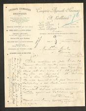 """SENS (89) COMPTOIR AGRICOLE SENONAIS / ENGRAIS """"A. LOILLIEUX"""" en 1914"""