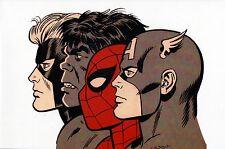 SPIDER-MAN HULK CAPT AMERICA CAPT MARVEL  Pin Up Poster