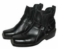 >>> Biker- Stiefeletten / niedrige Herren- Stiefel in schwarz ca. Gr. 43 - 43,5