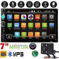 """7"""" 2Din Car Stereo Radio Mp5 Usb/Aux Android Ios Mirror Link TouchScreen +Camera"""