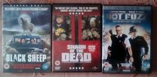 Hot Fuzz, Shaun of the Dead & Black Sheep DVDs.