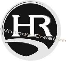 HOLIDAY RAMBLER RV LOGO Lettering decal Graphic Black 9.5 inch on CHROME