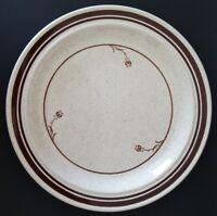 Homer Laughlin Dinner Plate Brown Speckles Flowers Trim USA Diner Restaurant 10""